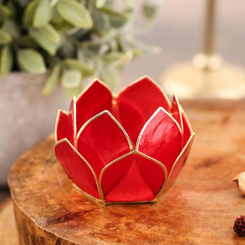 12 Petals Red Tea-Light Holder