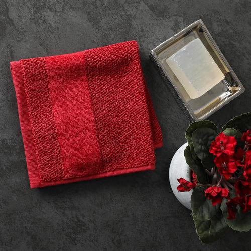SHEARED BORDER FACE TOWEL Set 8pcs