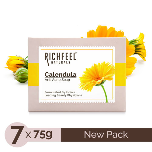 Richfeel Anti Acne Soap with Calendula Extracts (75gm)  (Pack of 7)