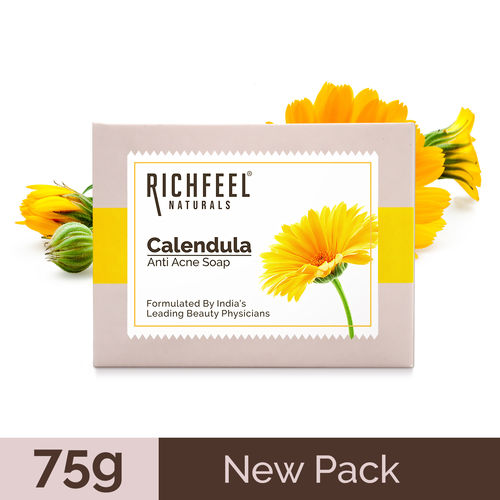 Richfeel Calendula Acne Soap (75 g) For Acne & Acne Marks