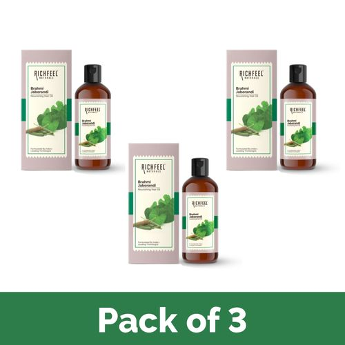 Richfeel Brahmi Jaborandi Hair Oil 80ml (Pack Of 3)