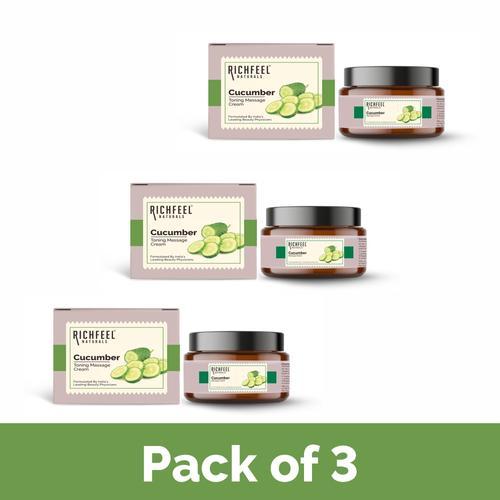 Richfeel cucumber massage cream 100g (Pack Of 3)