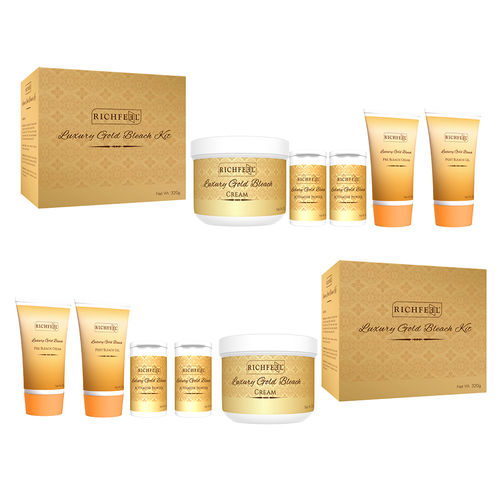 Richfeel Luxury gold bleach kit - 320g (Pack Of 2)