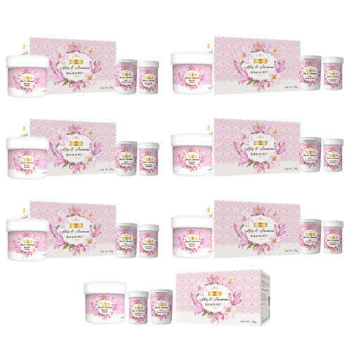 Richfeel Lily And Jasmine Bleach Kit 28g (Pack Of 7)