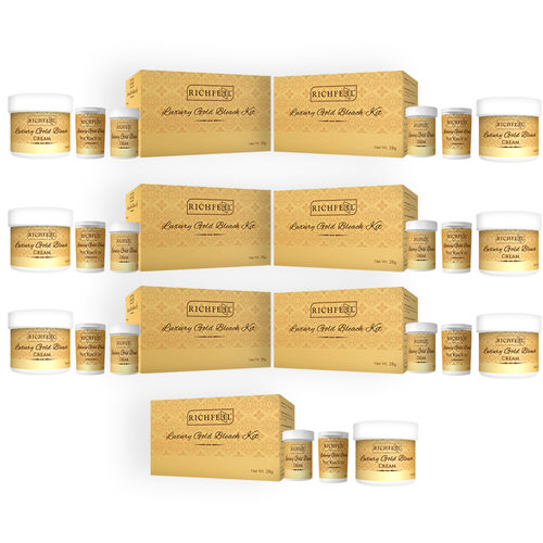 Richfeel Luxury Gold Bleach Kit 28g (Pack Of 7)