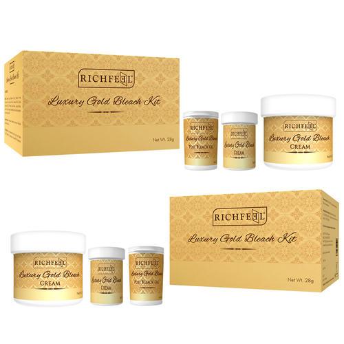 Richfeel Luxury Gold Bleach Kit 28g Set of 2 (Pack Of 2)