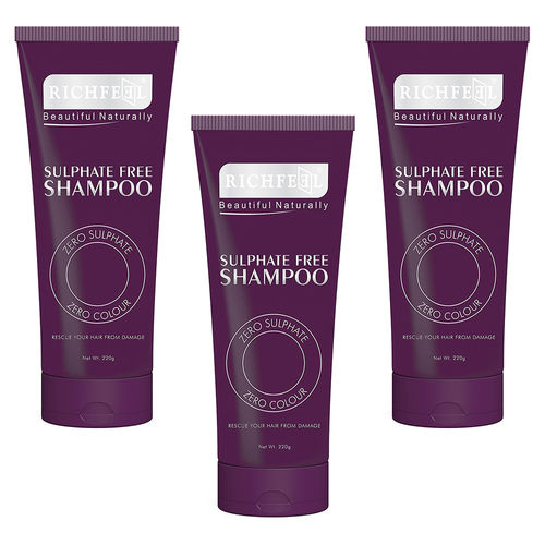 Richfeel Sulphate Free Shampoo 220g (Pack Of 3)