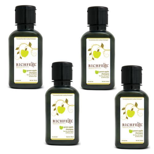 Richfeel Green Apple Shampoo 100ml (Pack Of 4)