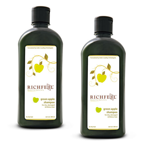 Richfeel Green Apple Shampoo 500ml (pack Of 2)