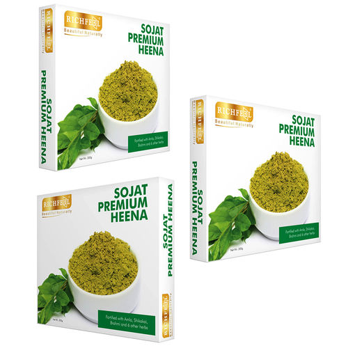 Richfeel Sojat Premium Heena 200g (Pack Of 3)