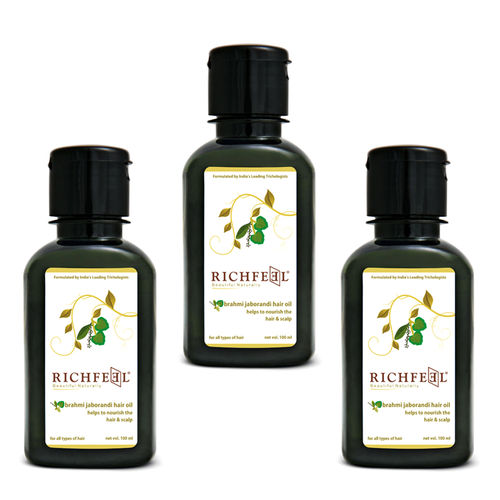 Richfeel Brahmi Jaborandi Hair Oil 100ml (Pack Of 3)