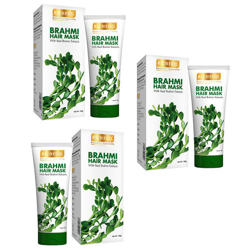 Richfeel Brahmi Hair Mask 100g (Pack Of 3)