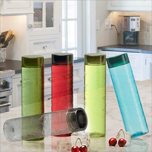 Steelo Orbit Unbreakable Tritan Water Bottle, 1000ml, Set of 2, Assorted