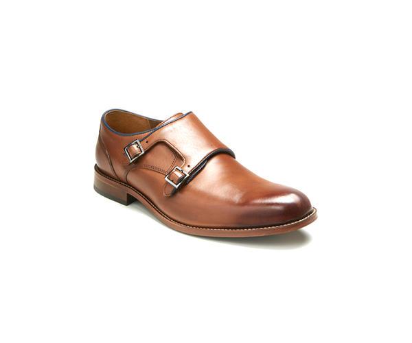 Tan Monk-strap Shoes