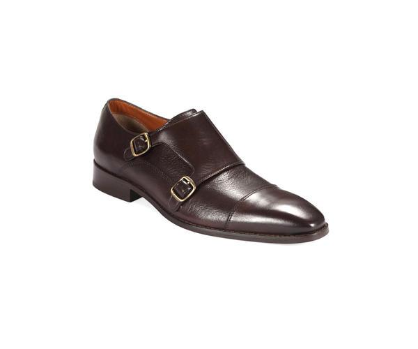 Dark Brown Monk-strap Shoes