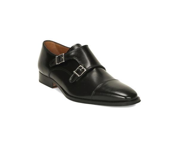 Black Monk-strap Shoes