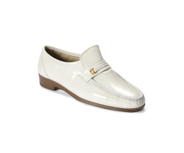 White Formal Slip-ons
