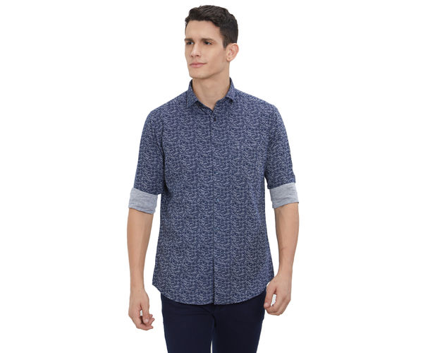 Easies by Killer Printed Blue Color Slim Fit Shirt