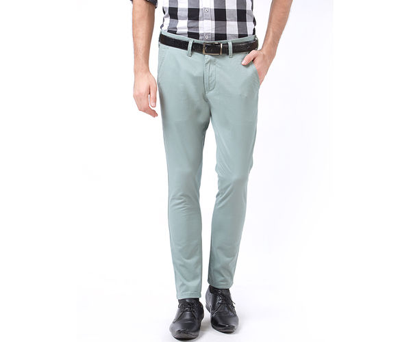 Easies by Killer Green Color Cotton Slim Trouser