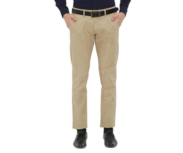 Easies by Killer Beige Color Cotton Slim Trouser