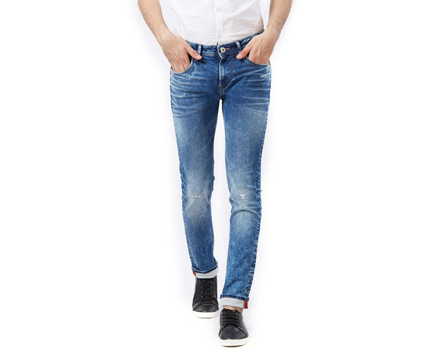 Solid Blue Color Skinny Fit Jeans