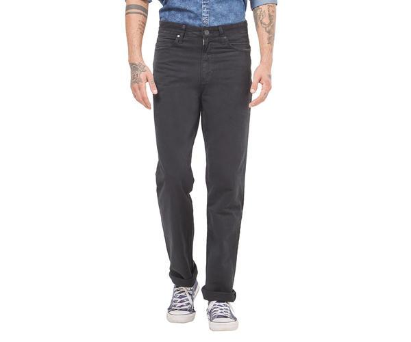 Solid Black Color Comfort Fit Jeans