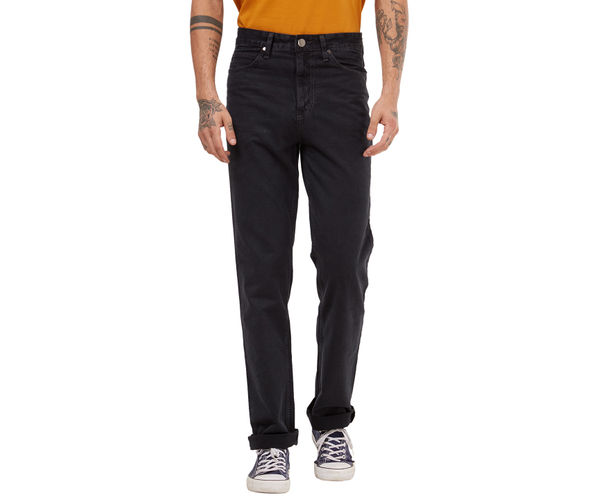 Solid Blue Color Comfort Fit Jeans