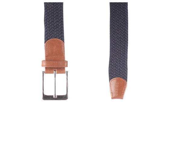 Easies Men Casual Blue Synthetic Leather Belt