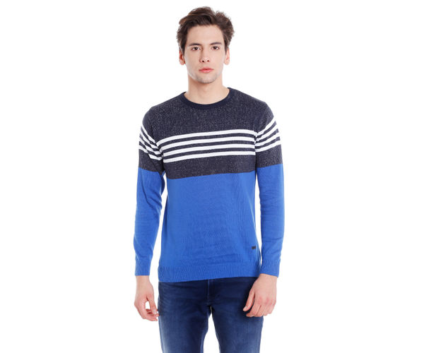 Easies Men's Blue Sweater