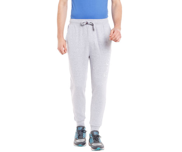 Solid Grey Color Cotton Slim Fit Track Pant