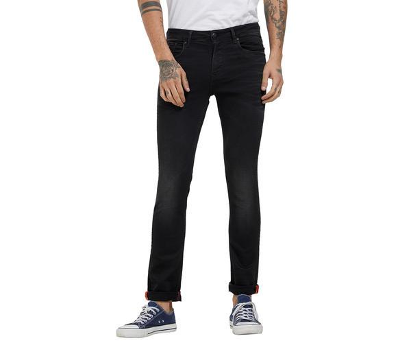 Solid Black Color Skinny Fit Jeans