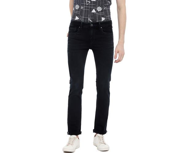 Easies By Killer Solid Black Color Cotton Slim Fit Jeans