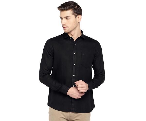 Easies By Killer Solid Black Color Cotton Slim Fit Shirt