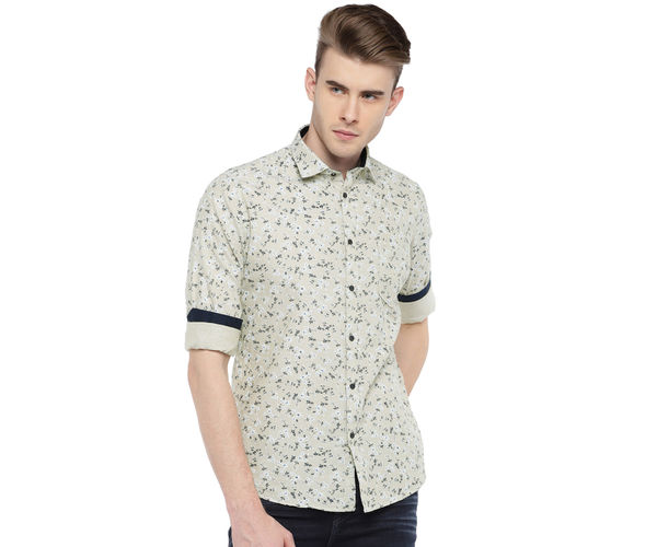 Easies By Killer Printed Green Color Cotton Slim Fit Shirt