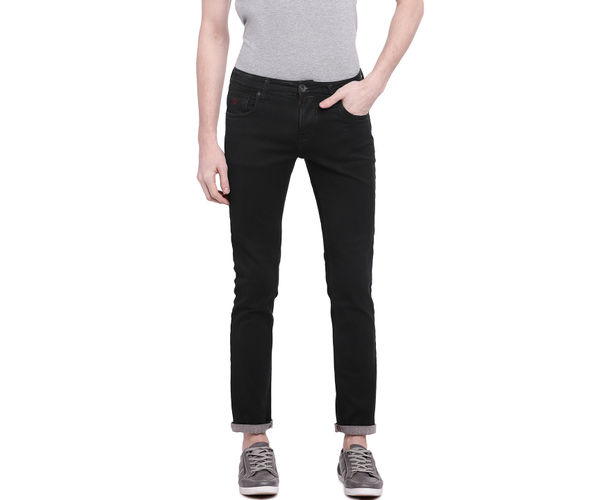 Solid Brown Color Cotton Skinny Fit Jeans