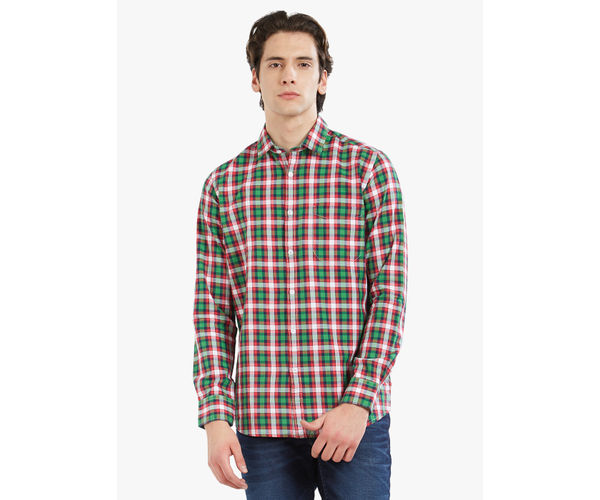 Lawman Pg3 Men's Slim Fit Red Shirt