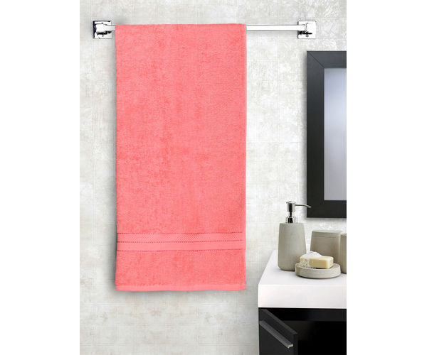 Stellar Home Crystal Collection - Small Coral 1 Piece Bath Towel, GSM - 380 (100% Cotton, 70 x 140 cms)