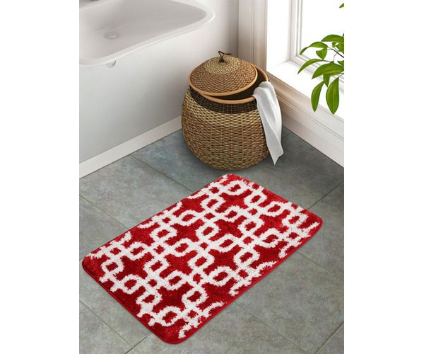 Stellar Home Stockholm Collection - Poppy Red Bath Mat Large Size