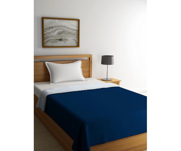 Stellar Home Blockbuster Collection - True Navy & Grey Damn Reversible Single Size Comforter (Super Soft Micro)