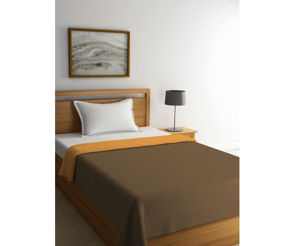 Stellar Home Blockbuster Collection - Ochre & Sepia Reversible Single Size Comforter (Super Soft Micro)