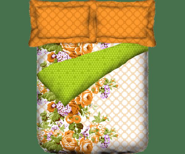 Stellar Home Estella Collection - Floral Geometric Autumn Hued Queen Size Comforter (100% Cotton)