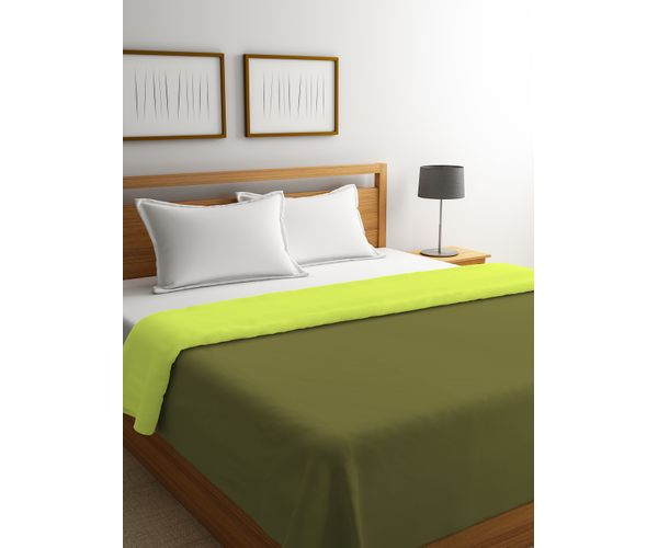 Stellar Home Blockbuster Collection - Wild Lime & Olive Branch Reversible Queen Size Comforter (Super Soft Micro)