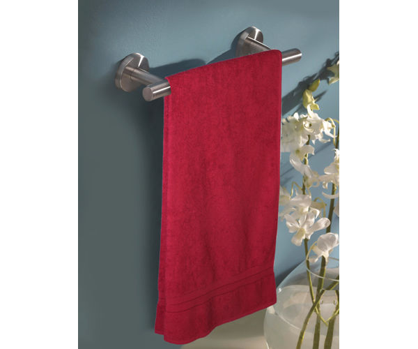 Stellar Home Crystal Collection - Extra Large Red Plum 1 Piece Bath Towel, GSM - 380 (100% Cotton, 90 x 180 cms)