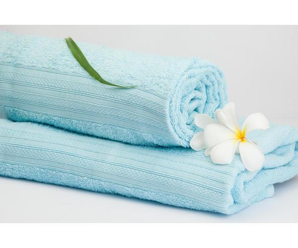Stellar Home Premium Jacquard Collection - Small Light Blue 1 Piece Bath Towel, GSM - 380 (100% Cotton, 70 x 140 cms)