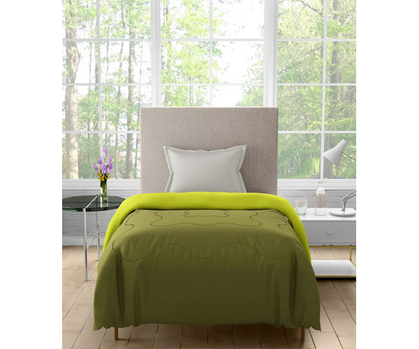 Stellar Home Enya Collection - Tropical Green Printed Reversible Single Size Comforter (Polyester)