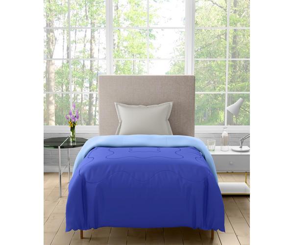 Stellar Home Enya Collection - Deep Blue Printed Reversible Single Size Comforter (Polyester)