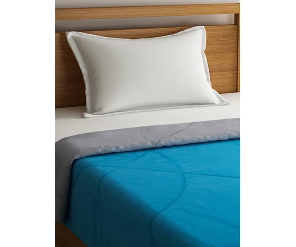 Stellar Home Blockbuster Collection - Mosaic Blue & Limestone Grey Single Size Comforter (Super Soft Micro)