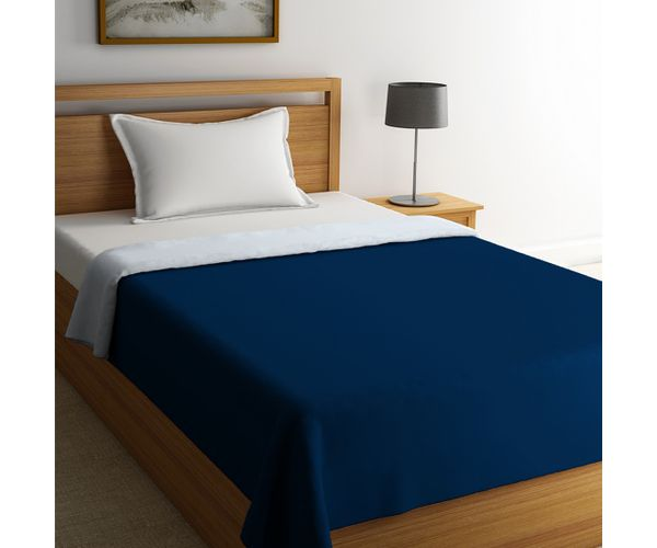 Stellar Home Blockbuster Collection - True Navy & Grey Dawn Single Size Comforter (Super Soft Micro)