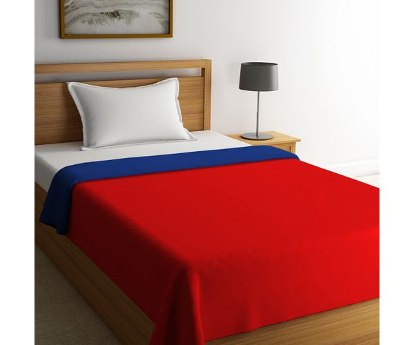Blockbuster Poppy Red & Palace Blue Comforter Single Size