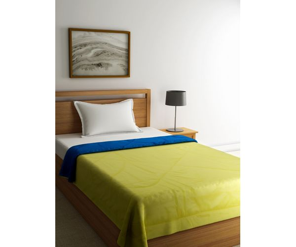 Stellar Home Enya Collection - Lime Punch & Mosaic Blue Reversible Single Size Comforter (Super Soft Micro)